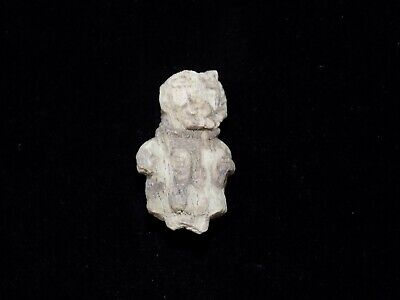 Pre-Columbian Moche/Chimu Bone Carving of Man Bead