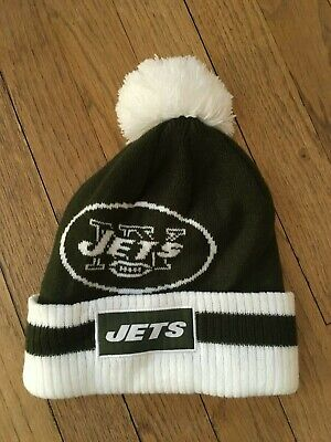 New York Jets Touque Knitted Beenie Winter Gear Hat Warm Rare Football Bud Light