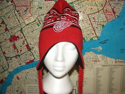 Detroit Red Wings Touque Hat Nhl Canada Beenie Warm Old Time Hockey Usa Canada