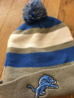Detroit Lions Touque Knitted Beenie Winter Gear Hat Warm Rare Football Bud Light