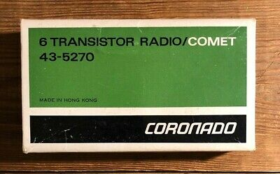 Vintage Coronado Solid State Transistor Radio Model 43-5270 Original In Box