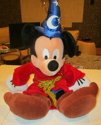 """Disney Parks Mickey Mouse Sorcerers Apprentice Wizard 21"""" Plush Toy"""