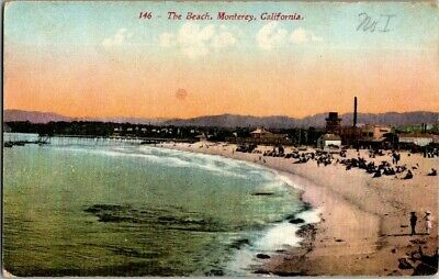 Early 1900'S. The Beach, Monterey, Ca. Postcard Ck11