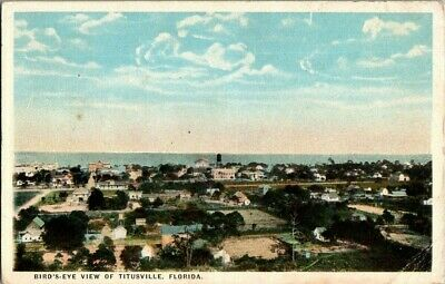 1917. Birds Eye View Of Titusville, Fl. Postcard Ck9