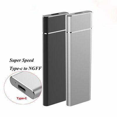 3NU31 NGFF To USB3.1 HDD Enclosure M.2 To USB Type C SSD Hard Disk Drive Case Vi