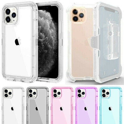 For iPhone 11 Pro Max X XS Max Hybrid Shockproof Defender Case Cover + Belt Clip