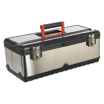 AP580S Sealey Stainless Steel Toolbox 580mm with Tote Tray [Tool Storage]