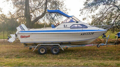 Fishing Ski Boat with motor and trailer