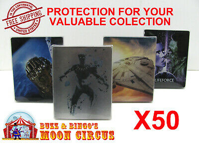 50x 4K UHD STEELBOOK - NO J-CARD SIZE - CLEAR PROTECTIVE BOX PROTECTOR SLEEVE