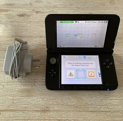 Nintendo 3DS XL Silver Handheld System With Charger & 4GB SD Card