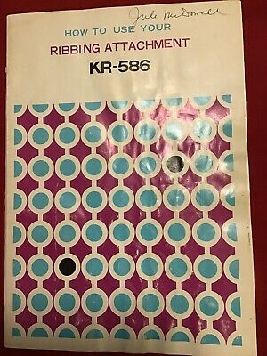 Brother KR-586 Ribber Manual Book for Knitting Machine