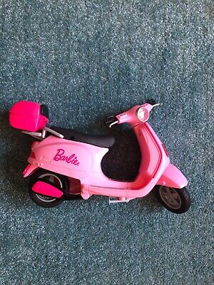 BARBIE doll pink scooter moped