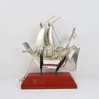 Vintage Sterling Silver 925 Detailed Boat Handcrafted Weight - 57.2 Grams