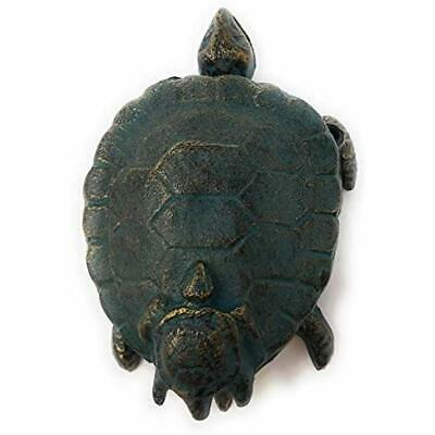 Cast Iron Green Sea Turtle With Baby Door Knocker Shell Is Knocking Device 5925G