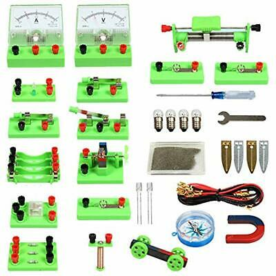 """School Physics Science Lab Basic Circuit Kits Electricity Magnetism Experiment """""""