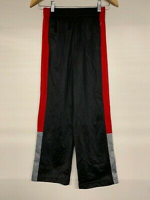 Boys Athletic Jogger Tracksuit Bottoms Trousers Track Pants Black L Large 10/12