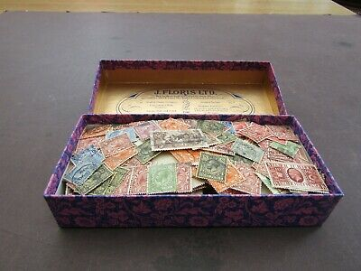 Great Britain - Vast Collection Of Gv Definitive Issues In Old Tin - 1200/1400