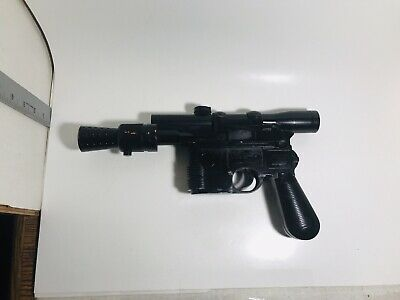 Star Wars Rare Official Han Solo Blaster Toy Gun Cosplay Black Sounds 2008