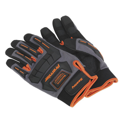 MG803L Sealey Mechanic's Gloves Anti-Collision - Large [Hand Protection]