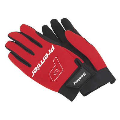 MG796L Sealey Mechanic's Gloves Padded Palm - Large [Hand Protection]