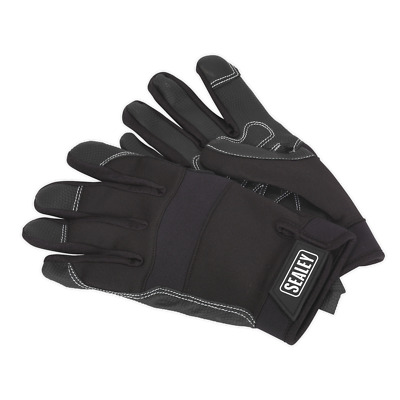 MG798XL Sealey Mechanic's Gloves Light Palm Tactouch - X-Large