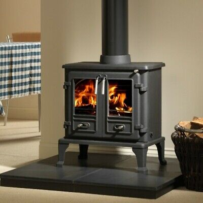 Firefox 5 Multifuel Wood Burning Stove Glass 250mm x 215mm Free UK Delivery