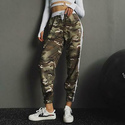 Women Jogging Pants Camouflage Exercise Sports Gym Fitness Running Girls Trouser