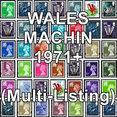 GB 1971+ WALES Machin Definitives W Series (Multiple Listing) Unmounted Mint