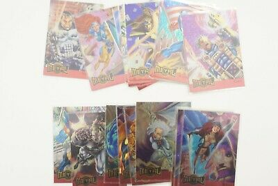 Marvel Metal Metal Blasters Set of 18 cards Fleer 1995