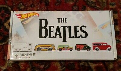 NEW Hot Wheels THE BEATLES Toys R Us Exclusive 5 Pack Set w/ White Hiway Hauler!