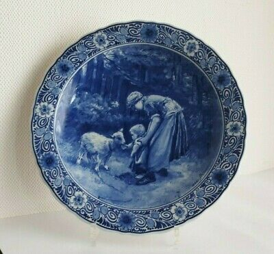PORCELEYNE FLES ROYAL DELFT - WALL PLATE after painting BLOMMERS - TOP PIECE