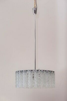 Austrolux Nickel Chandelier, 1960s