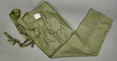 WW2 US Army M43 M1943 Field Trousers Pants Cotton OD Unissued Cutter Tag