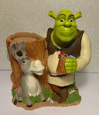 Shrek 2 & Donkey Collectible Dixie Cup Holder Dispenser Kids Bathroom Decor
