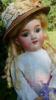 Antique German Armand Marseille  Bisque Child Doll 390 Compo Body AntiqueClothes