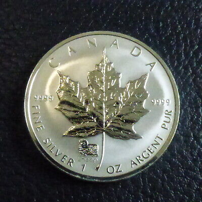Coin With COA Uncirculated 2003 SHEEP PRIVY MARK SILVER MAPLE LEAF 1 Oz