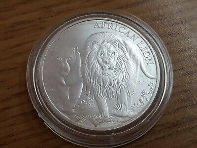 5000 Francs 2016 Excellent Condition Coin 1 Oz Silver Congo