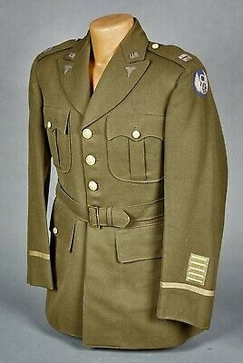 WW2 US Army 8th Air Corps Officers Dress Jacket Medical Corp Insignia UK Made