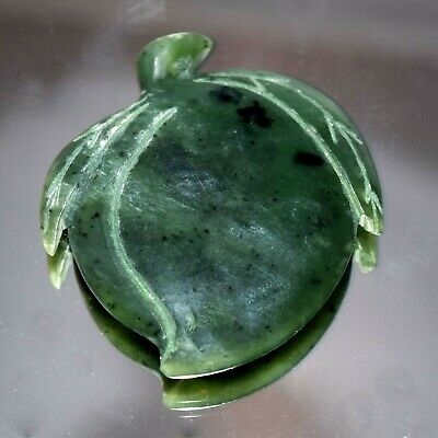 Vintage Chinese Carved Green Nephrite Jade Apricot Fruit Xìng Shu Grace Pendant