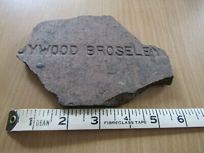 "Broseley vintage Victorian roof tile - McDonald's ""milkshake bet"" to resolve!"