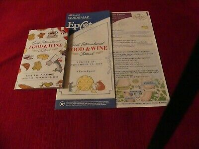 Disney EPCOT Food and Wine Festival 2019 Guide Passport and Map Set