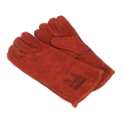 SSP141 Sealey Leather Welding Gauntlets Lined Pair [Hand Protection]