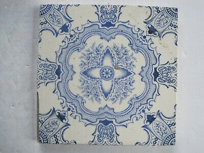 ANTIQUE VICTORIAN BLUE AESTHETIC WALL TILE - LEA & BOULTON No.102 C1896-1902