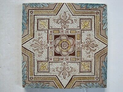 Antique Victorian Aesthetic Print And Tint Wall Tile  C1891