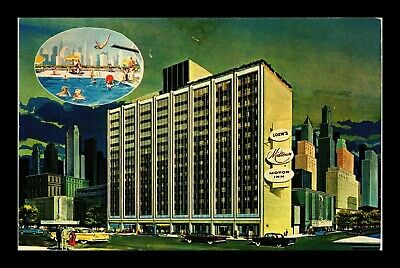 Us Postcard Leows Midtown Motor Inn Tourist Hotel New York