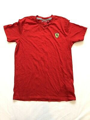 Scuderia Ferrari Essentials Classic T Shirt Tee Top Red Mens Fanatics