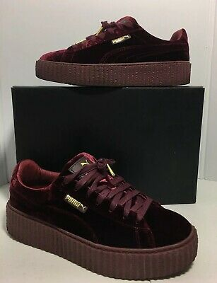 PUMA X RIHANNA Fenty Burgundy Purple Velvet Creeper Women's