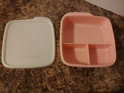 Tupperware Lunch It Container - BLUSH PINK WITH PEARL SEAL - NIP