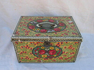 Old Large Art Nouveau Tin Can Can Wiener Style Flower