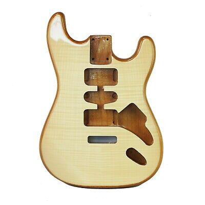 Eden® Crafter Series DIY Alder Strat Body Natural Finish With Flame Maple Top